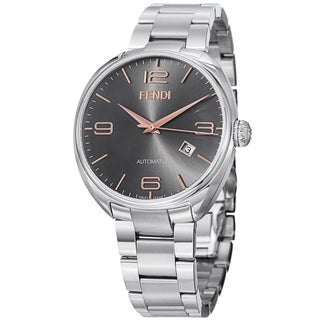Fendi Men's F201016200 'Fendimatic' Black Dial Stainless Steel Automatic Watch