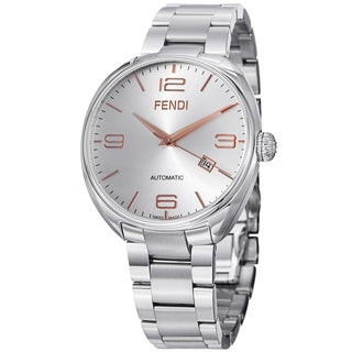 Fendi Men's F201016000 'Fendimatic' Silver Dial Stainless Steel Automatic Watch
