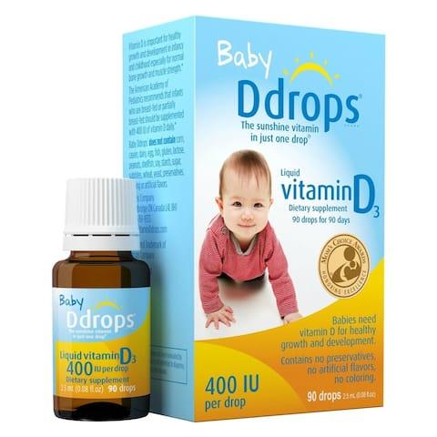 Ddrops 400 IU Baby Vitamin Supplement (90 Drops)