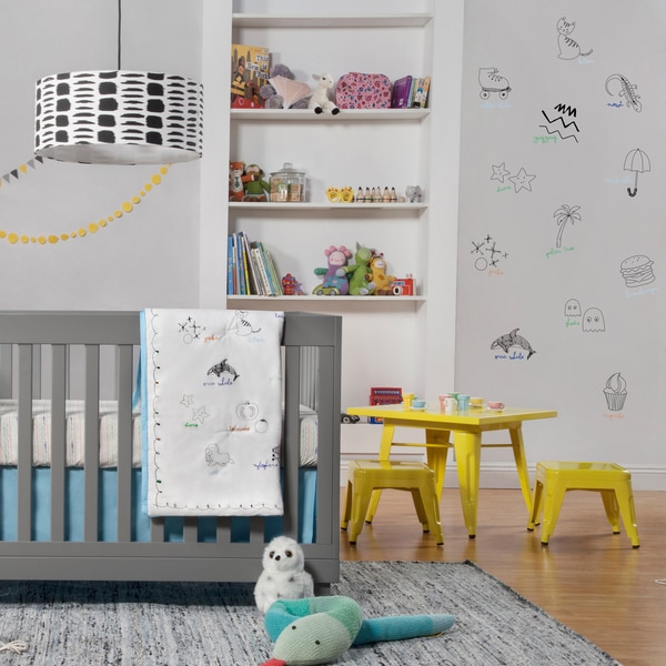 Babyletto Alphabets 5-piece Crib Bedding Set