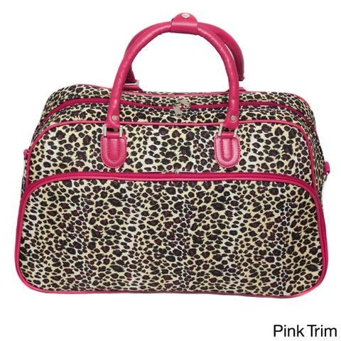 World Traveler Leopard 21-inch Carry-on Shoulder Tote Duffel Bag