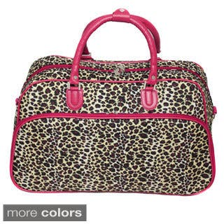 2ef10d4c0b3e World Traveler Leopard 15-inch Lightweight Carry-On Shoulder Tote Duffle Bag.  Quick View