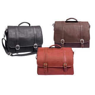 Manhattan 16-inch Full Grain Cowhide Leather 15.4-inch Laptop Briefcase Messenger