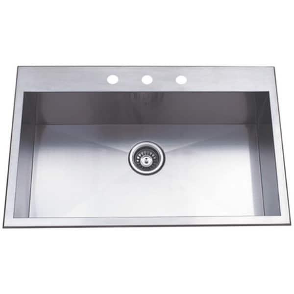 Shop Topmount 31.5-inch Single Bowl Stainless Steel Kitchen ...