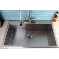 Stainless steel brushed satin 33 inch single bowl topmount drop in topmount 33 inch single bowl stainless steel kitchen sink workwithnaturefo