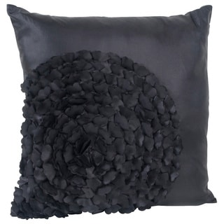 Flower Textured Throw Pillow
