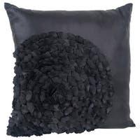 Flower Textured Throw Pillow