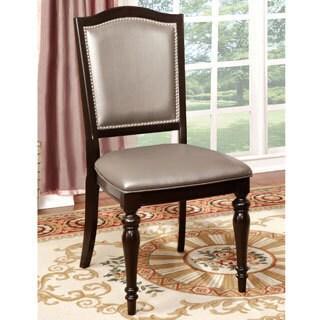 Furniture of America Harllington Leatherette Dining Chair (Set of 2)