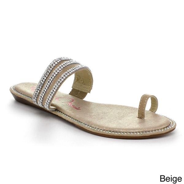 Shop Bellamarie Womens Sparkling Rhinestone Toe Ring -4501