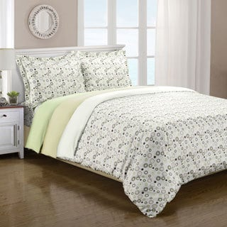 Superior Microfiber Spring Circles 3-piece Duvet Cover Set