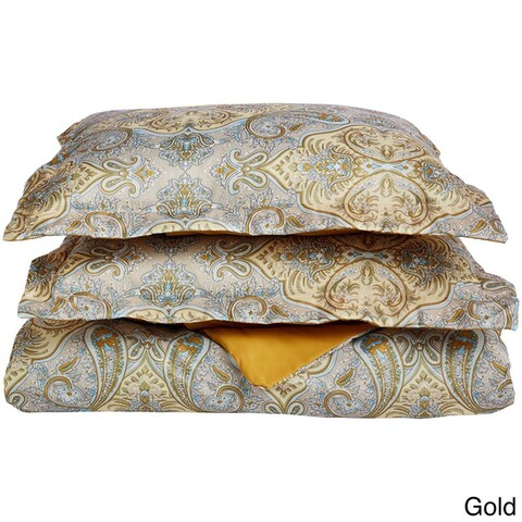 Superior Paisley Wrinkle Resistant Brushed Microfiber Duvet Cover Set