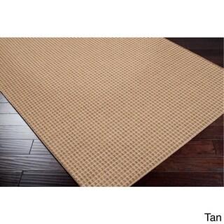 "Meryl Solid Indoor/ Outdoor Area Rug (Option: Khaki/Tan/Taupe - 5'3"" x 7'6"")"