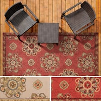 Hand-hooked Mila Contemporary Floral Indoor/ Outdoor Area Rug (5' x 8') - 5' x 8'