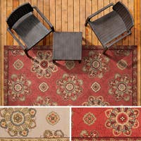 Hand-hooked Mila Contemporary Floral Indoor/ Outdoor Area Rug - 5' x 8'
