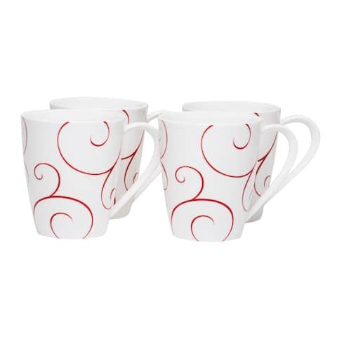 Panache Rouge Mug 14oz (Set of 4)