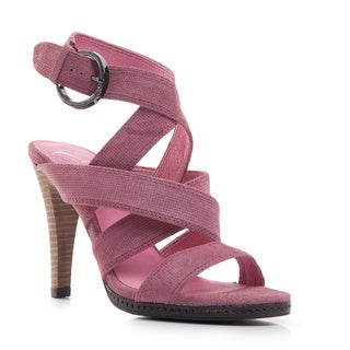 Nvy Women's 'Punch It' Open-toe Ankle Strap Sandal