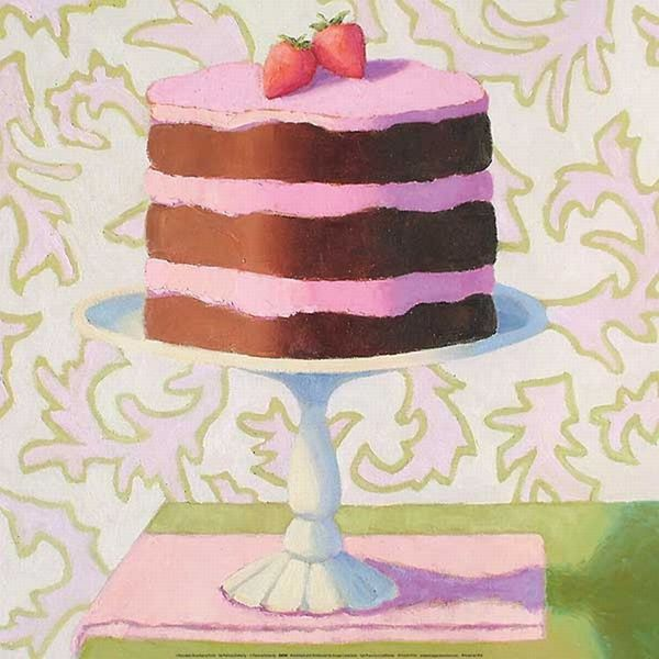 Patricia Doherty 'Chocolate Strawberry Torte' Canvas Art