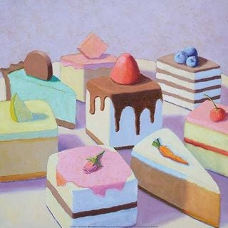 Patricia Doherty 'Pastry Platter' Canvas Art