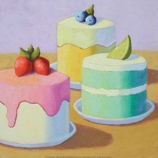 Patricia Doherty 'Sweet Trio' Canvas Art