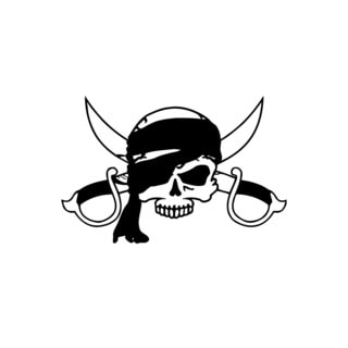 Pirate Scull with Swords Vinyl Wall Art