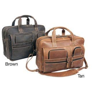 Canyon Executive 16-inch Leather Laptop Computer Briefcase