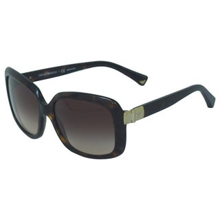 Emporio Armani Women's 'EA 4008 5026/13' Dark Havana Square Sunglasses