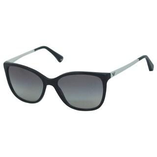 Emporio Armani Women's 'EA 4025 5017/11' Black/ Light Grey Shaded Sunglasses