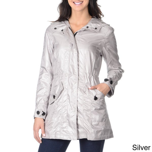 Shop Vince Camuto Women S Metallic Anorak Free Shipping Today Overstock 9135707