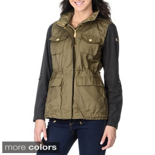 Vince Camuto Women's Mix Media Anorak
