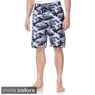 Hanes Men's Solid and Camo Print Lounge Shorts (Set of 2)