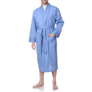 Hanes Men's Big and Tall Blue Woven Robe