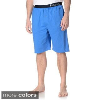Hanes Men's Big and Tall Solid Lounge Shorts (Set of 2 pairs)