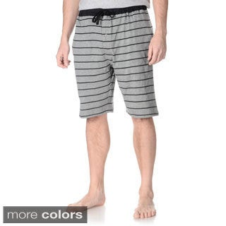 Hanes Men's Big and Tall Solid and Stripe Print Lounge Shorts (Set of 2 pairs)