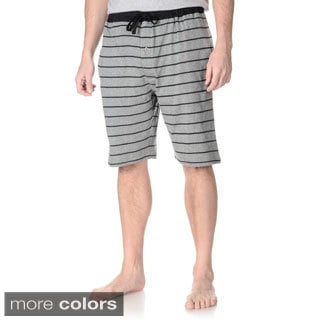 Hanes Men's Solid and Striped Print Lounge Shorts (Set of 2 pairs)