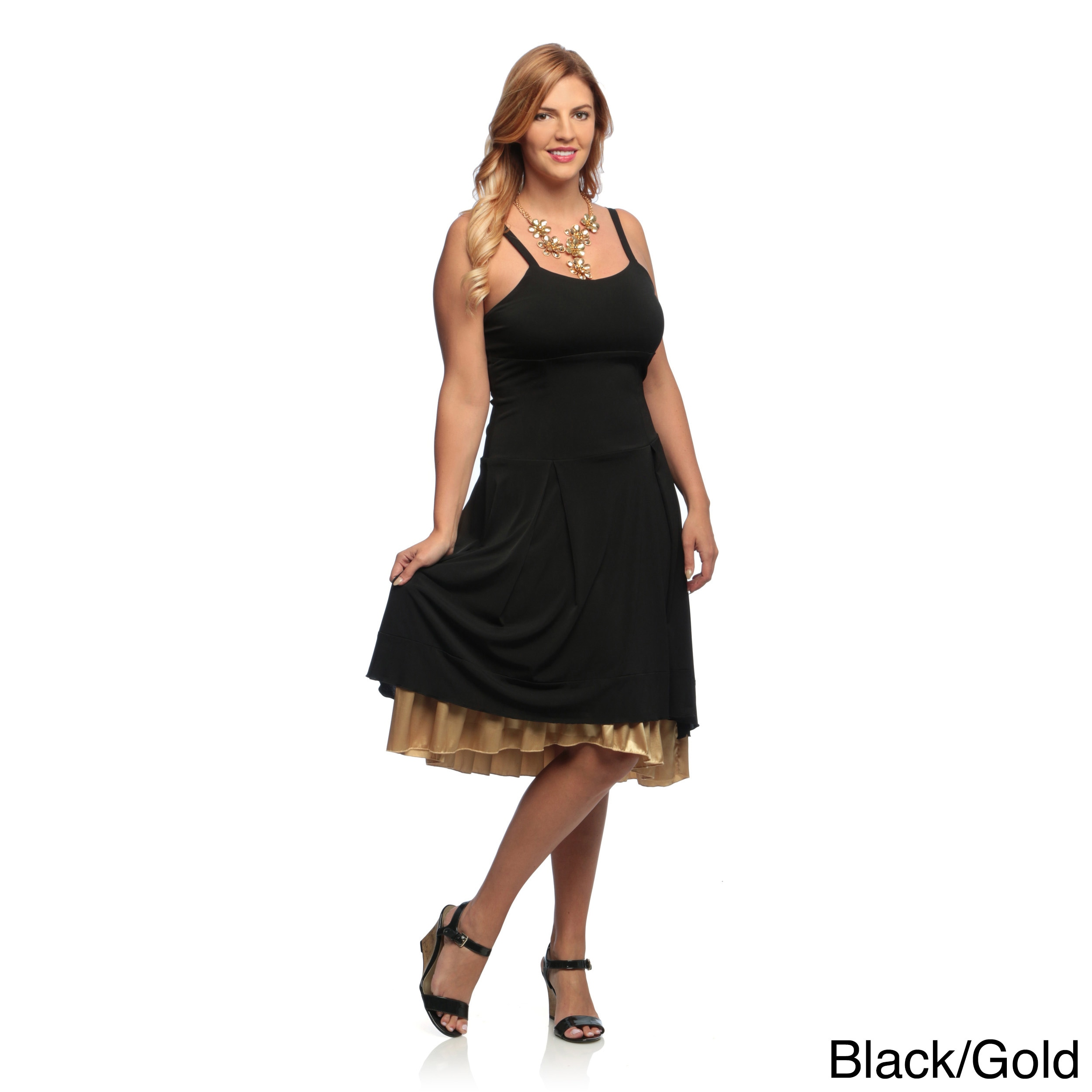 Evanese Women\'s Plus Size Double Layered Cocktail Dress   eBay