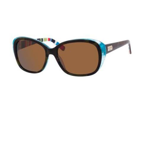dd5f8f2724d2 Kate Spade Womens  Hilde X71P  Olive Tortoise  Turquoise Polarized  Sunglasses
