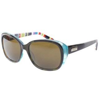 Kate Spade Womens 'Hilde X71P' Olive Tortoise/ Turquoise Polarized Sunglasses