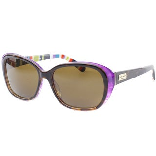Kate Spade Women's 'Hilde X72P' Tortoise/ Purple Polarized Fashion Sunglasses