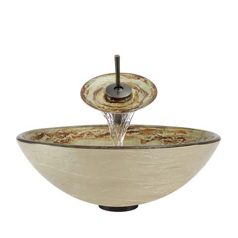 The Polaris Sinks P136 Oil Rubbed Bronze Bathroom Ensemble - Gold/Cream
