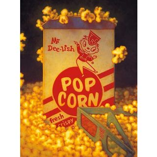 TR Colletta '3D Popcorn' Canvas Art