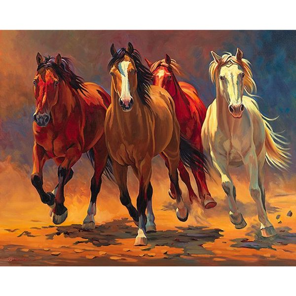 Nancy Davidson 'Hoofbeats and Heartbeats' Canvas Art