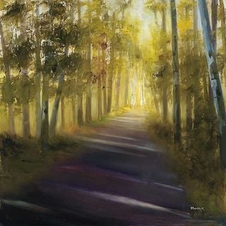 Michelle Condrat 'Walk Away' Canvas Art