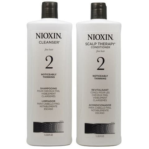 Nioxin System 2 Cleanser and Scalp Therapy Duo Set - 1 Liter