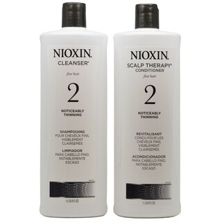 Nioxin System 2 Cleanser & Scalp Therapy Liter Duo