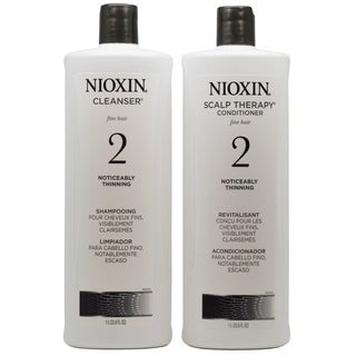 Nioxin System 2 Cleanser and Scalp Therapy Liter Duo