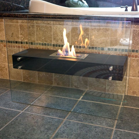La Strada Freestanding Floor Fireplace