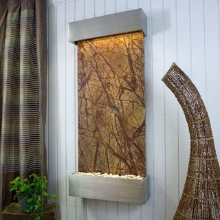 Rainforest Brown Marble Nojoqui Falls Classic Large with Stainless Steel Trim