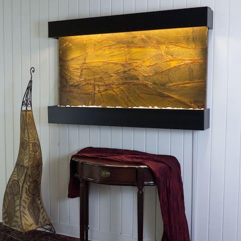 Rainforest Brown Marble Horizon Falls Classic Large with Black Onyx Trim