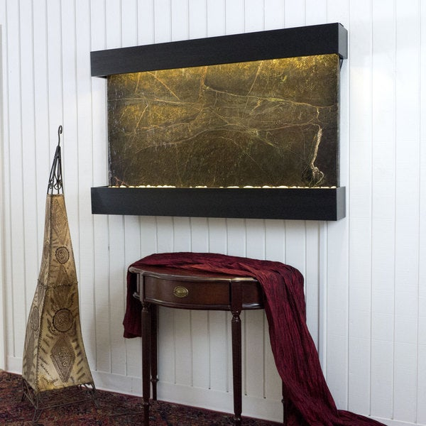 Rainforest Green Marble Horizon Falls Classic Large with Black Onyx Trim