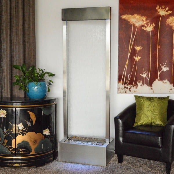 6' Stainless Steel Gardenfall with Clear Glass